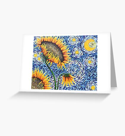 Starry Sunflowers Greeting Card
