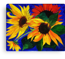 Sunflower Sisters Canvas Print