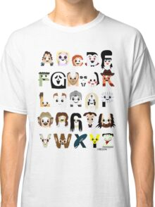 Horror Icon Alphabet Classic T-Shirt