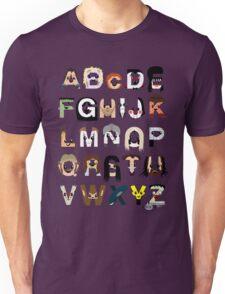 Horror Icon Alphabet Unisex T-Shirt