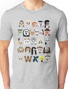 Horror Icon Alphabet T-Shirt