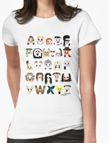 Horror Icon Alphabet Womens Fitted T-Shirt