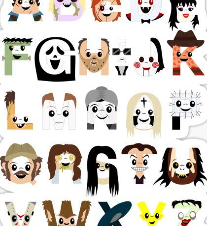 Horror Icon Alphabet Sticker
