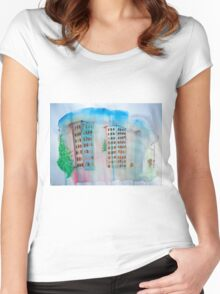 Breeze and Spring in the City Women's Fitted Scoop T-Shirt