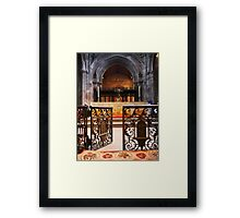 Manchester Cathedral - England Framed Print