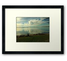 Dawn Breaks Blue Framed Print