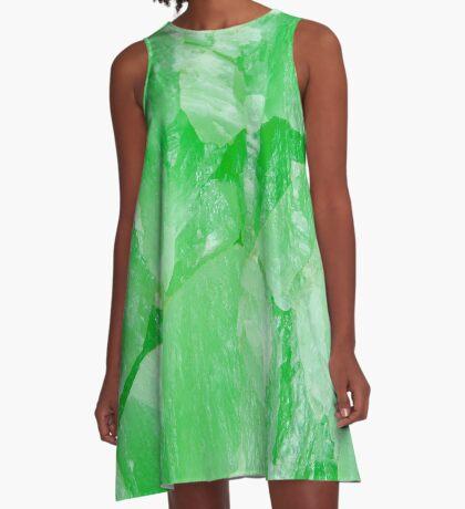 Jade Stone Texture – A Line Dress A-Line Dress