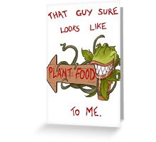 Plant Food Greeting Card