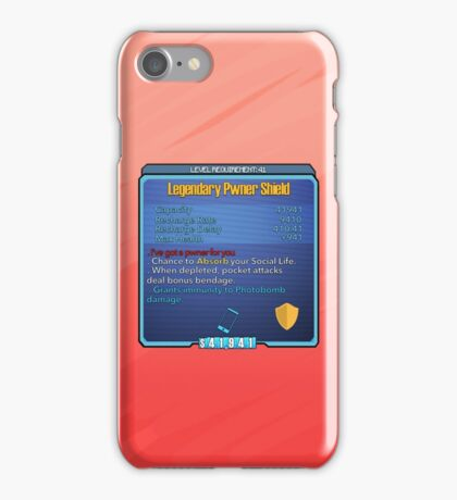 Legendary Pwner Shield iPhone Case/Skin