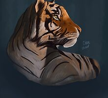 Tiger Artwork by Claire Upward
