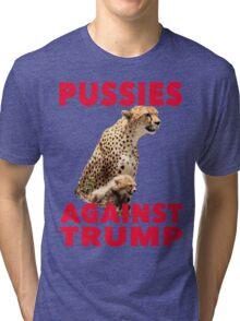 Pussies Against Trump Cheetah and Cub T-Shirt Tri-blend T-Shirt