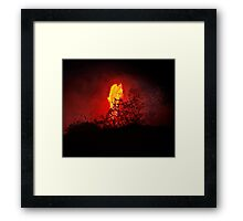 Lava Flow at Kalapana 12 Framed Print