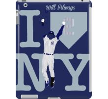 """I will always LOVE NY"" Derek Jeter iPad Case/Skin"