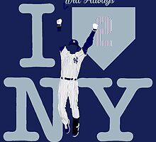 """I will always LOVE NY"" Derek Jeter by BeinkVin"