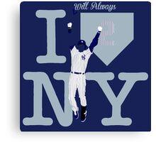 """I will always LOVE NY"" Derek Jeter Canvas Print"