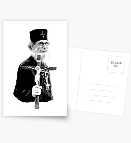 Brother Nathanael: Holding the Cross Postcards