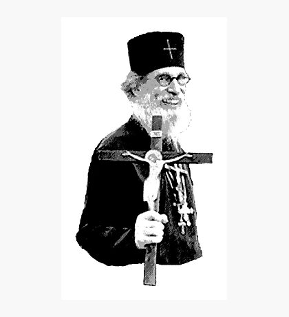 Brother Nathanael: Holding the Cross Photographic Print