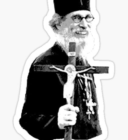 Brother Nathanael: Holding the Cross Sticker