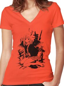 FLCL - Mamimi Women's Fitted V-Neck T-Shirt