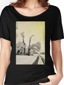 Southern Illinois Winter Scene 9_ Dec 2012 Women's Relaxed Fit T-Shirt