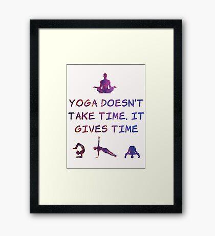 Yoga #2 Framed Print