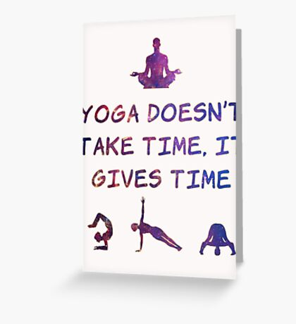Yoga #2 Greeting Card