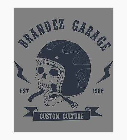 Brandez Garage Photographic Print