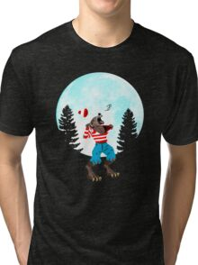 Wereswally / Wereswaldo / Where's Wally / Waldo Tri-blend T-Shirt