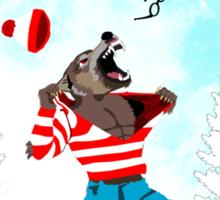 Wereswally / Wereswaldo / Where's Wally / Waldo Sticker