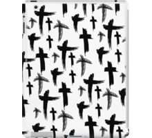 Crosses (black) iPad Case/Skin