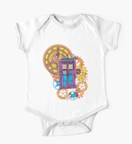 Colorful TARDIS Doctor Who Art One Piece - Short Sleeve