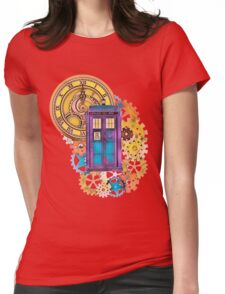 Colorful TARDIS Doctor Who Art Womens Fitted T-Shirt
