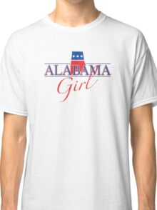 Alabama Girl - Red, White & Blue Graphic Classic T-Shirt