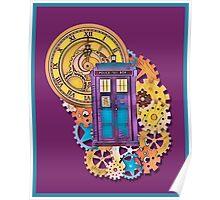 Colorful TARDIS Doctor Who Art Poster