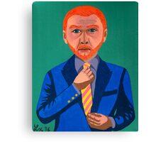 Portrait of Simon Pegg Canvas Print