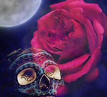Skull and Rose by jkartlife