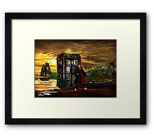 time and space traveller lost in the pirates AGE Framed Print