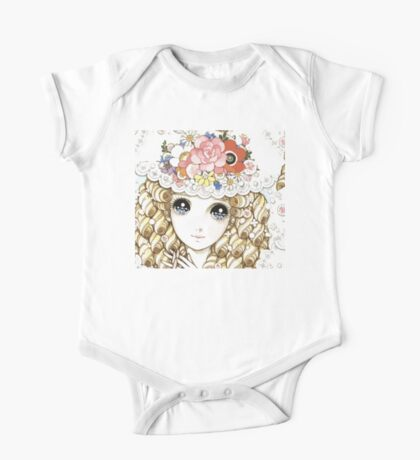 Beautiful Macoto Manga Girl Repeating Artwork One Piece - Short Sleeve