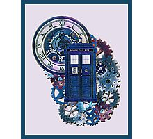 Time and Space Doctor Who inspired Art Photographic Print