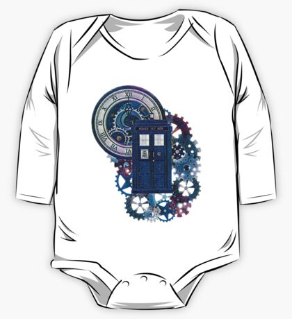 Time and Space Doctor Who inspired Art One Piece - Long Sleeve