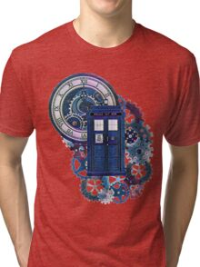 Time and Space Doctor Who inspired Art Tri-blend T-Shirt