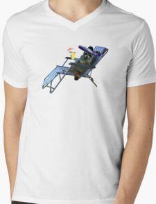 Mexican Summer Raccoon Mens V-Neck T-Shirt