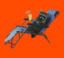 Summer Vacation Raccoon Kids Tee