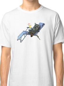 Summer Vacation Raccoon Classic T-Shirt