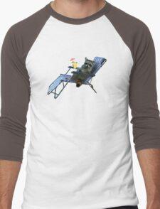 Summer Vacation Raccoon Men's Baseball ¾ T-Shirt