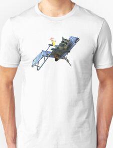 Summer Vacation Raccoon Unisex T-Shirt