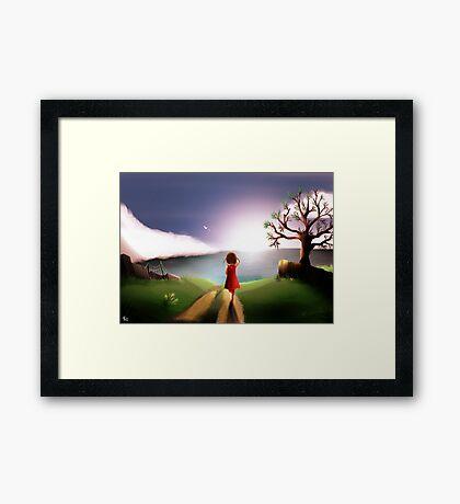 À l'horizon Framed Print