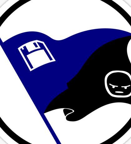 Anarcho-Transhumanist Emoji Flag (Circled) Sticker