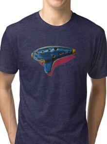 Pop Art-Inspired Ocarina  Tri-blend T-Shirt