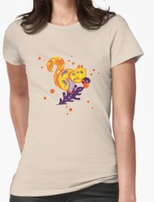 Autumn Squirrel Womens Fitted T-Shirt